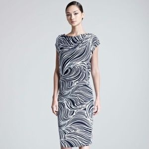 Escada Elira Ocean Printed Fantasy Jersey Dress